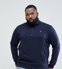 French Connection Plus Half Zip Sweat Navy