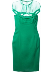 Dsquared2 Sheer Detail Dress Green