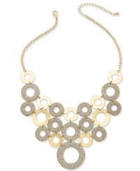 Thalia Sodi Gold Tone Crystal Pave Circle Statement Necklace Only At Macy's