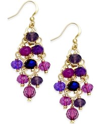 Styleandco. Style And Co. Gold Tone Purple Bead Kite Earrings Only At Macy's