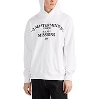 Mastermind Japan Missions Cotton Hoodie White