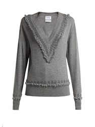 Barrie Romantic Timeless Cashmere Sweater Grey