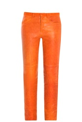 Isabel Marant Joren Leather Trousers Red