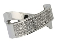 Michael Kors Criss Cross Pave Ring Silver