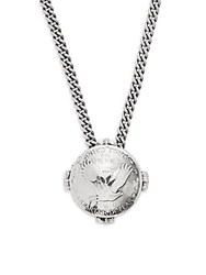 King Baby Studio Sterling Silver Liberty Quarter Dollar Pendant Necklace