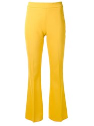 Giambattista Valli Tailored Flared Trousers Yellow Orange