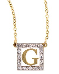 Extra Small Block Initial Pendant Necklace With Diamonds Kacey K