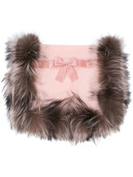 Fendi Cosy Bow Scarf Pink And Purple