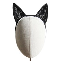 Heather Huey Lace Cat Headband Multi