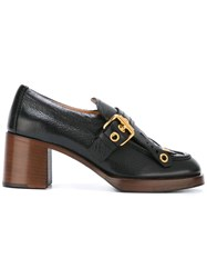 Car Shoe Buckle Detailing Pumps Black