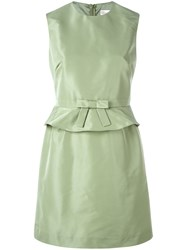 Red Valentino Belted Dress Green