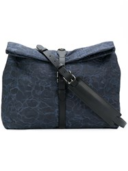 Mismo Printed Shoulder Bag Blue