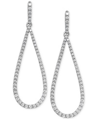 Arabella Swarovski Zirconia Drop Earrings In Sterling Silver