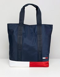 Tommy Jeans Classic Colour Block Tote Bag Multi
