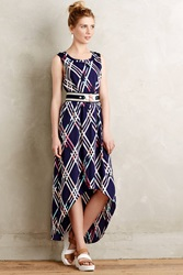 Maeve Diamant Maxi Dress Blue Motif