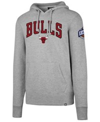 47 Brand '47 Chicago Bulls Double Double Pullover Hoodie Gray
