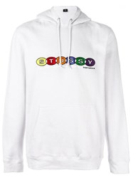 Stussy Embroidered Logo Hoodie White
