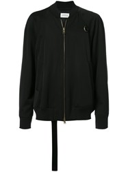 Song For The Mute Printed Back Bomber Jacket Wool Black