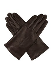 Dents Ladies Plain Leather Gloves Lined Fleece Mocha