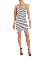 Saks Fifth Avenue Red Striped Knit Dress White