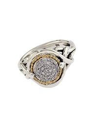 Effy Balissima Diamond Accented Ring In Sterling Silver With 18 Kt. Yellow Gold