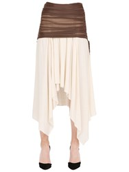Loewe Asymmetrical Ruched Double Gauze Skirt
