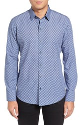 Zachary Prell Men's Trim Fit Geo Print Sport Shirt