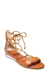 Cole Haan Women's Ghillie Gladiator Sandal British Tan Leather