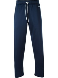 Ami Alexandre Mattiussi Piped Drawstring Track Pants Blue