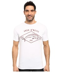O'neill Mahi Short Sleeve Screen Tee White Men's T Shirt