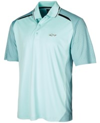 Greg Norman For Tasso Elba Men's Shadow Embossed Polo Created For Macy's Blue Seafoam
