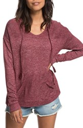 Roxy Love In The Sky Hoodie Tawny Port Heather