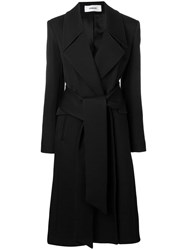 Chalayan Belted Mid Length Coat Black