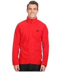 Adidas Outdoor Hiking Fleece Jacket Scarlet Men's Coat Red