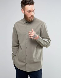 Weekday Pablo Structured Shirt 19 225 Khaki Green
