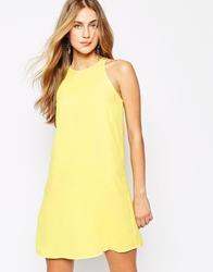 Mango Halter Swing Dress Yellow