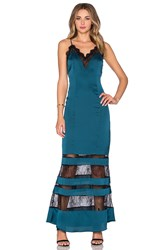 Lovers Friends X Revolve Rosie Maxi Dress Teal