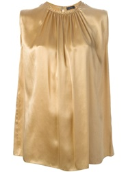 Joseph Sleeveless Blouse Metallic