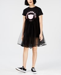 Nicopanda Tulle T Shirt Dress Black