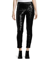 Blank Nyc Sequined Faux Leather Leggings Black