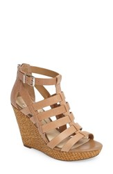 Jessica Simpson Women's Jeyne Wedge Sandal Buff Leather