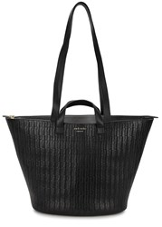 Meli Melo Rosalia Black Woven Leather Tote