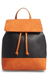 Sole Society Kaili Two Tone Backpack Black Black Cognac