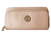 Tommy Hilfiger Pebble Double Zip Wallet Blush Wallet Handbags Pink