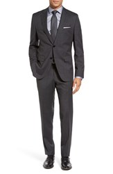 Boss Men's Johnstons Lenon Trim Fit Check Wool Suit