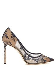 Jimmy Choo Romy 100Mm Lace Pumps Navy