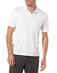 Perry Ellis Big And Tall Open Placket Polo Bright White