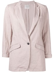 Forte Forte Three Quarters Sleeve Blazer Nude Neutrals