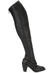 Guidi Over The Knee High Heel Boots Black