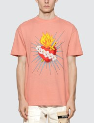 Palm Angels Sacred Heart T Shirt Pink